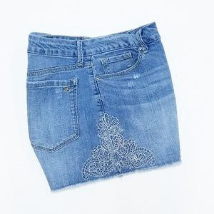 Jessica Simpson Uptown Highrise Jean Shorts sz 31